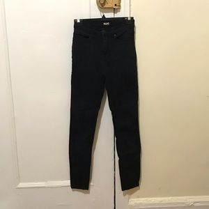 BDG high rise twig ankle black jeans